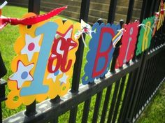 1st Birthday Banner Choose Your Colors by 62Cards on Etsy, $23.00