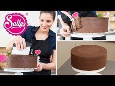 Torten glatt streichen mit Ganache / Sallys Basics / Motivtorten / How to - YouTube