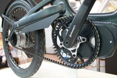 Continental mid drive and belt on A2B electric bike at Eurobike.