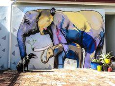 Street Art by Falko one in Cape Town, South Africa Murals Street Art, Mural Art, Graffiti Art, Wall Art, Wall Murals, Zebra Art, World Street, Art Hub, Cape Town South Africa