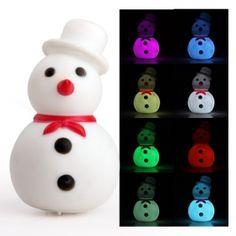 Farbumschlagende Weihnachtsschneemann Nachtlampe