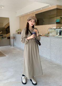 Cute Modest Outfits, Korean Dress, Asian Style, Autumn, Mood, Winter, Clothes, Dresses, Fashion