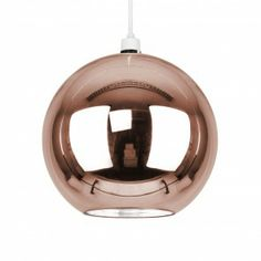 The Industrial Style Collection Rose Gold Globe Pendant£40