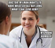 d97cd506cc138e928f9025a8508f2ac0 female doctor smile quotes how i feel going to the doctor funny funnyaf laugh fun,Female Doctor Meme