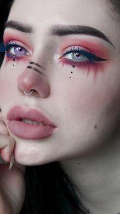 Emo Makeup, Kawaii Makeup, Grunge Makeup, Eye Makeup Art, Girls Makeup, Full Makeup, Makeup Eye Looks, Pretty Makeup, Eye Makeup Designs