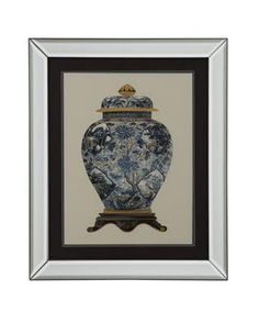 Multi Color Blue Porcelain Vase II Wall Art