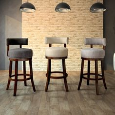 Shop for Furniture of America Fendeson Contemporary Fabric Nailhead Swivel Bar Stool (Set of Ships To Canada On EVERYTHING* Overstock - Your Online Furniture Outlet Store!