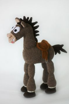 Horse Bullseye from cartoon Toy st Horse Bullseye from cartoon Toy st 21 van Achtern Save Images 21 van Achtern Horse Bullseye from cartoon Toy story Knitted camel wool amigurumi toy story crochet horse Bullseye horse Crochet Horse, Crochet Animals, Crochet Doily Patterns, Crochet Doilies, Toy Story, Woody, Crochet Disney, Cartoon Toys, Disney Toys