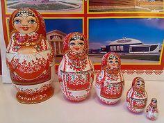 Handmade Wooden Matryoshka Nesting Doll in Ethnic Dress Mari Finno Ugric Nation   eBay