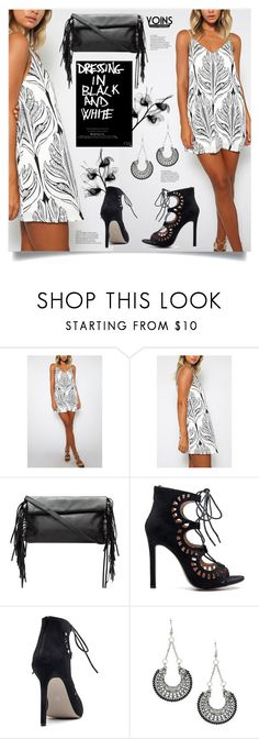 """Dress in Black and White with YOINS"" by mahafromkailash ❤ liked on Polyvore"
