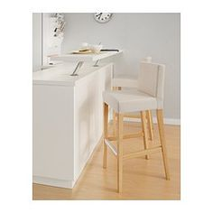 HENRIKSDAL Bar stool with backrest - 74 cm - IKEA
