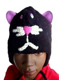 Cat | Sale / Uitverkoop | Mingface Kids Cat Hat from Nepal 100% wool with a soft polyster lining