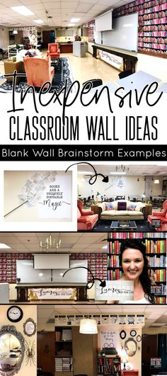 Brainstorm inexpensive ways to decorate your classroom walls!