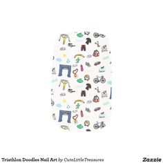 Triathlon Doodles Nail Art Minx® Nail Wraps
