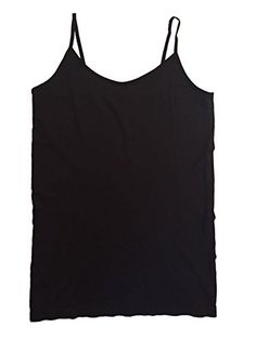 8c9bea90faf Womans Plus Size Seamless Camisole Tank Top Spaghetti Straps 3 Pack 1X --  You can