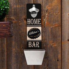 Personalized Home Bar Cap Catcher Bottle Opener - #groomsmen gift idea