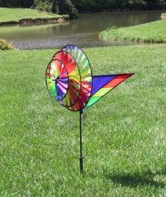 Triple Spinner, Rainbow. Garden SpinnersWind SpinnersPremier DesignsRainbow  ...
