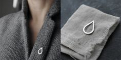The Droplet brooch pin in solid silver by Minicyn on Etsy, €55.00