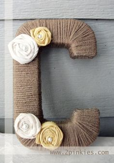 Yarn Wrapped letter