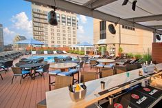 7 Boston Rooftop Bars for Summer Nights Out: Rooftop bar, Colonnade Hotel, Boston