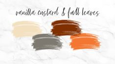Vanilla custard and fall leaves wedding color scheme Winter Wedding Colors, Vanilla Custard, Dog Wedding, Fall Leaves, Wedding Color Schemes, Ideas, Autumn Leaves, Thoughts
