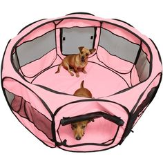 Pet Portable Tent Dog Cat Playpen Crate Puppy Soft Exercise Kennel 45' Pink *** Hurry! Check out this great product