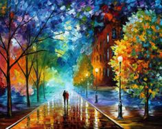 """Wall Art Decor - Freshness Of Cold — Landscape Oil Painting On Canvas By Leonid Afremov.  Size: 40"""" x 30"""" (100cm x 75cm)"""