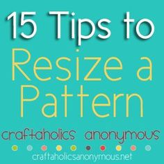awesome tips to resizing a sewing pattern so you can sew multiple sizes with only 1 pattern.