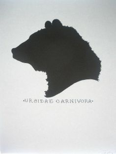 Binomial Nomenclature Bear Silhouette by Calico Creative on Etsy, $8.00
