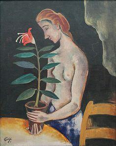 Karl Hofer (1878-1955) was een Duits kunstschilder, overwegend gerekend tot de stroming van het expressionisme.Na de Eerste Wereldoorlog verwierf Hofer vooral bekendheid als expressionistisch kunstschilder. De invloed van met name Die Brücke is duidelijk herkenbaar in zijn werk, maar zelf zou hij zich nooit aansluiten bij een van de vele expressionistische bewegingen die in die jaren in Duitsland actief waren
