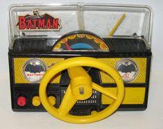 Vintage Batman Batmobile's Remco Dashboard Battery Op