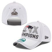 New England Patriots New Era Super Bowl XLIX Champions Trophy Collection Locker Room 9FORTY Adjustable Hat – White