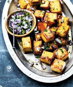 Spice up what's in your picnic basket by adding a crisp red onion and mint salad. Serve with lightly fried cumin and chili flavoured paneer cubes.