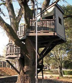 """Location: Woodside, CA Barbara's tip: """"Firepoles are great for a quick escape, and they don't take up as much room as a slide. We used stainless steel pipe to make ours.""""    - CountryLiving.com"""
