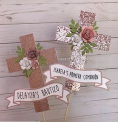 Girl Baptism Centerpieces, Baptism Party Decorations, Communion Centerpieces, First Communion Decorations, First Communion Party, First Holy Communion, Shower Centerpieces, Balloon Decorations, Communion Invitations
