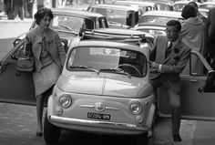 Roma in the © Bruno Barbey/Magnum Photos Vintage Italian, Italian Style, Fiat 600, Magnum Photos, Historical Pictures, Vintage Photographs, Automobile, Classic, Rome Italy