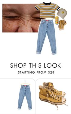 """baby cakes"" by queen-anna24 ❤ liked on Polyvore featuring Levi's, MANGO and Converse"