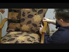 How to upholster a Chair Chapter 7 around a arm