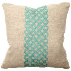 Link Turquoise Embroidery Pillow Pair