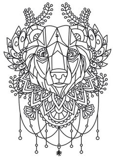 Urban threads plus. Colouring Pics, Animal Coloring Pages, Coloring Book Pages, Coloring Sheets, Cross Stitch Embroidery, Embroidery Patterns, Hand Embroidery, Bear Images, Urban Threads