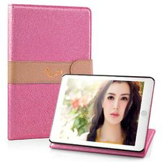 Exquisite Two Color Leather Wallet Case And Card Slots iPad mini Magenta Ipad Mini Accessories, Magenta, Slot, Leather Wallet, Polaroid Film, Iphone, Green, Leather Wallets