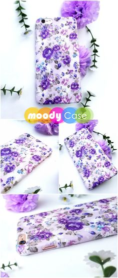 Bountifully bunched and breathtakingly beautiful, the purple flower bouquets featured in the print applied to this trendy phone case have been inspired by lush gardens that make up fantasies and daydreams. The pastel purples, soft lilacs and rich shades of lavender combine to represent the fragility and flirtatiousness of freshly picked flora. Available for iPhone 6, iPhone 6 Plus, iPhone 8, iPhone 8 plus, iPhone 7, iPhone 7 Plus and iPhone X. - Creative iPhone cover