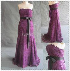 Wholesale Hot Sale Strapless Mermaid/Fuchsia Lace Evening dresses Sash prom Dresses, $105.73-131.1/Piece | DHgate