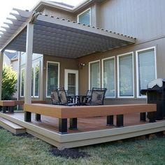 Image Result For Bench Railing Around Concrete Patio