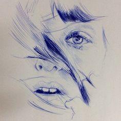 20-min ballpoint pen sketch during lunch break. #chaseroflight #instaart #ballpointpen #pendrawing #instagram #instagood #photooftheday #art #artoftheday #sketch #traditionalart #speeddrawing