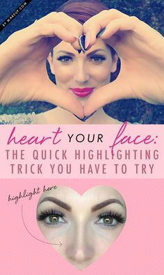 Makeup artist Elyse Renau shows us a different way to highlight our faces for a flawless complexion! Follow her steps to learn how to do the heart highlighting trick.