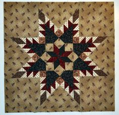 free hawaiian quilt patterns to download   Sew Unique Creations: Our Feathered Star Logo Pattern - Free Download