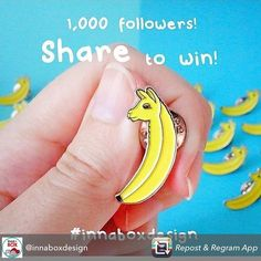 Ballama party!! Repost from @innaboxdesign using @RepostRegramApp - Just 3 days left to enter my giveaway! Repost this pic, tag me, use hashtag #Innaboxdesign and follow my page if you don't already 😊 good luck! Ballama looks forward to meeting you! #ballama #pin #pingame #enamelpin #competition #giveaway #smallbusiness #pun