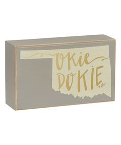 Another great find on #zulily! Oklahoma Box Sign #zulilyfinds