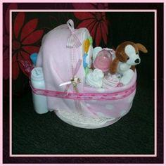 Baby Crib Nappy Cake